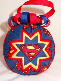 Quilted Ornament - Superman - Handmade Fabric Ornament. $15.00, via Etsy.