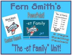 Fern Smith's The -et Family Packet ~ PowerPoint, Center Game & Spelling Bundle!