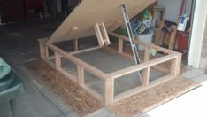 DIY bed lift  - under bed storage solution!  Yes!