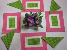 American Girl Placemat Set with Napkins  Pink by DollPatchworks, $18.00