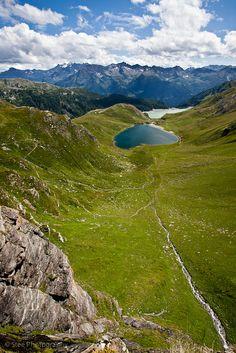 Tom de Lago y Lago Ritom, Cantón de Ticino, Suiza