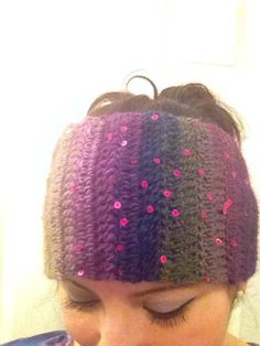 """Sparkly Fairy Garden""  Head Wrap Headband by RAiNBOWNiKKi on Etsy, $20.00"
