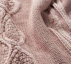 Varying stitches come together to evoke a patchwork-like feel in this soft and cool-to-the-touch Knit Throw. Woven of cotton, this softly textured essential wears well over time. Millenial Pink, Mirrored Picture Frames, Cable Knit Throw, Sheepskin Throw, Knitted Throws, Natural Rug, Throw Cushions, Cotton Quilts, Frames On Wall