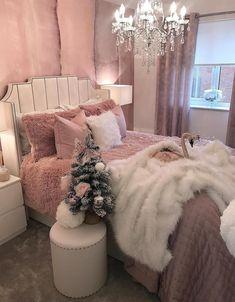 Cute Bedroom Ideas, Girl Bedroom Designs, Room Ideas Bedroom, Home Decor Bedroom, Modern Bedroom, Interior Livingroom, Aesthetic Room Decor, Cozy Room, Dream Rooms