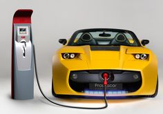 A couple of miles from the Tesla Motors Inc.'s Palo Alto HQ, a Silicon Valley new company plans to challenge Tesla, the reknown electric car producer. Ev Charger, Electric Car Charger, Portable Charger, Electric Motor, Electric Cars, Electric Vehicle, 3008 Peugeot, Peugeot 206, E Mobility