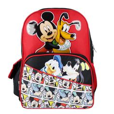 """Mickey Mouse 16"""" Large Backpack School Book Bag, $16.99"""