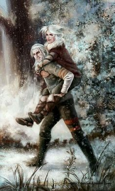 The Witcher Wild Hunt - Geralt & Ciri The Witcher Wild Hunt, White Wolf, Fantasy Characters, Witcher Art, Fantasy, Geralt And Ciri, Game Art, Video Game Art, Art