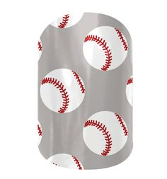 Baseball nail wraps by Jamberry Nails www.denice.jamberrynails.net