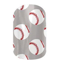 Baseball  nail wraps by Jamberry Nails