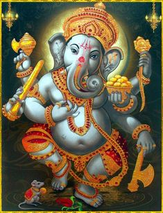 New Year Make a Great Start by Achieving Abundant Wealth, Health & Prosperity Tatto Ganesha, Ganesha Art, Ganesh Lord, Shri Ganesh, Ganesh Images, Lord Krishna Images, Shiva Art, Hindu Art, Inspirer Les Gens