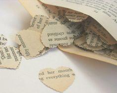 More heart confetti from books.