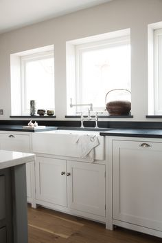 Contemporary cool in our Nursery Shaker Kitchen. Contemporary cool in our Nursery Shaker Kitchen. Shaker Style Kitchen Cabinets, White Shaker Kitchen, Shaker Style Kitchens, Kitchen Cabinet Styles, Devol Kitchens, Home Kitchens, New Kitchen, Kitchen Decor, Rustic Kitchen