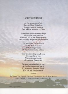 Hey, I found this really awesome Etsy listing at https://www.etsy.com/listing/122136542/five-stanza-what-is-an-uncle-poem-shown