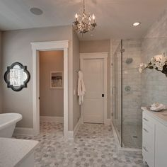 White Master Bathrooms Design Ideas, Pictures, Remodel, and Decor - page 12