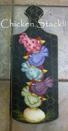 EPattern Chicken Stack by PaintingwithDeb on Etsy