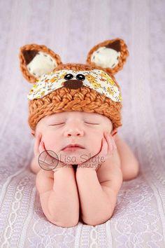 Volpe prop di Baby Hat foxy neonato Fox Hat bosco di bitOwhimsy