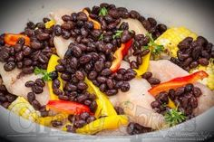 Easy Crockpot Chicken, Veggies and beans recipe. Just set the slow cooker and it takes care of the rest Easy Crockpot Chicken, Few Ingredients, Bean Recipes, Slow Cooker, Healthy Living, Dinners, Beans, Spices, Veggies