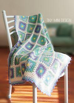 Tığ İşi Bebek Battaniyesi-Granny Square Crochet Blanket