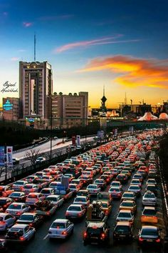 They say it is how Tehran looks when rush hours, I would say it's Tehran all hours!