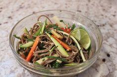 Soba noodle salad with summer vegetables
