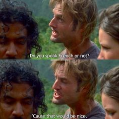 "1.02 ""Pilot (Part 2)"" – SAYID: The batteries are dying! KATE: How much time do we have? SAYID: Not much. BOONE: I've heard you speak French! Just listen to this! Listen to it! SHANNON: I can't! SAWYER: You speak French or not? 'Cause that would be nice."