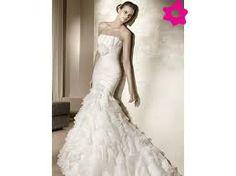 vestidos de novia corte sirena con olanes - Buscar con Google