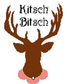 Kitsch Bitsch - Original counted cross stitch PDF pattern. $4.00, via Etsy.