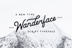 Wanderface Hand Lettered Font  @creativework247