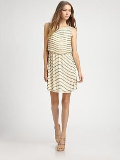 Gisel Beaded Cowlback Dress by Alice + Olivia