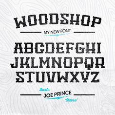 Tipografía Woodshop para descargar