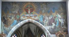 Gebhard Fugel (1863–1939)  Wangen Pfarrkirche St Martinus Chorbogen.jpg