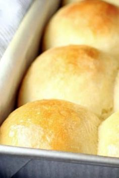 FLUFFY NO KNEAD DINNER ROLLS From Let's Dish are Number 7 on our list :: Click HERE for the RECIPE Everyone needs one really good, really easy dinner roll recipe in their repertoire, and these Fluffy No-Knead Dinner Rolls are it!