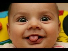 What is like this smiley baby face ! Funny Baby Faces, Funny Baby Gif, Funny Baby Pictures, Silly Faces, Funny Kids, Cute Kids, Funny Photos, Funny Smiles, Crazy Pictures