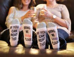 Ankle socks // Bring me wine socks // wine socks / If you can