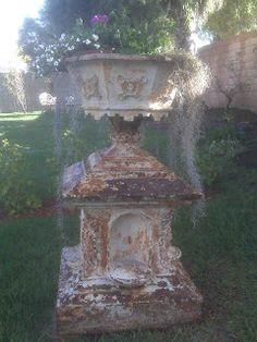 Tallulah's Antique Closet: May 2010 Outdoor Art, Outdoor Gardens, Outdoor Decor, Old Vases, Garden Urns, Happy Memorial Day, Iron Decor, Garden Ornaments, Antique Photos