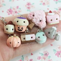 Here's a pic of some of my recent charms you may have seen already! I Made a few new charms so I'm excited to post them😊 hope you enjoy these charms😂 Fimo Kawaii, Polymer Clay Kawaii, Fimo Clay, Polymer Clay Projects, Polymer Clay Charms, Polymer Clay Art, Clay Crafts, Polymer Clay Miniatures, Polymer Clay Creations