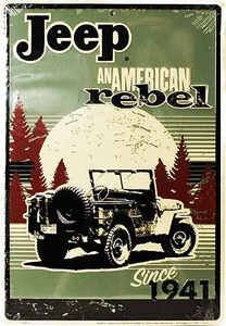 Jeep since 1941. When I decide to stop being lame and get my license...I'm getting a jeep and going everywhere!!!!