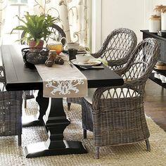 Chianni Trestle Table - Classic Trestle from Ballard Designs. 3 color choices.