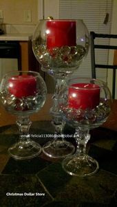 Dollar Tree candlesticks and bowls.Add small bulbs and greenery and these are wi. Dollar Tree candlesticks and bowls.Add small bulbs and greenery and these are wi. Dollar Tree candlesticks and bowls. Diy Christmas Decorations Easy, Christmas Centerpieces, Birthday Decorations, Wedding Decorations, Tree Decorations, Wedding Reception Centerpieces, Diy Centerpieces, Dollar Tree Centerpieces, Dollar Store Christmas