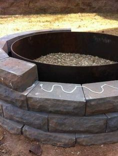 DIY Fire Pit (or planter or... the possibilities with this design are endless!)