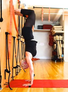 handstand from yoga sling