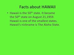 Interesting #fact about #Hawaii..