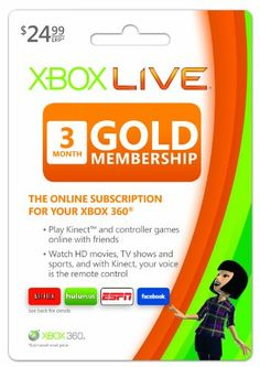 Xbox LIVE 3 Month Gold...