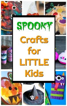 SPOOK-tacularly Simple Halloween Crafts for Kids - How Wee Learn Monster crafts, witch crafts, mummy crafts, and all sorts of other spooky (but not too scary!) crafts for toddlers and preschoolers! Mummy Crafts, Halloween Arts And Crafts, Halloween Crafts For Toddlers, Preschool Arts And Crafts, Creative Activities For Kids, Easy Arts And Crafts, Crafts For Kids To Make, Halloween Activities, Cute Crafts