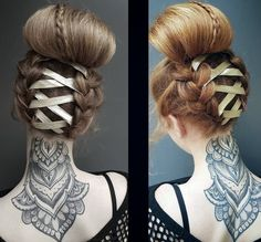 Braided corset hairstyle by Bex P Pfeiffer