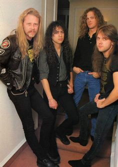 James Hetfield, Kirk Hammett, Jason Newsted & Lars Ulrich