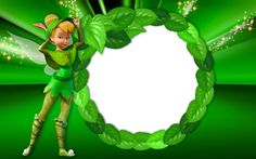 Tinkerbell Green Transparent Kids Frame