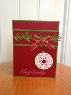 Stampin Up Christmas card  Christmas ornament by treehouse05, $3.50