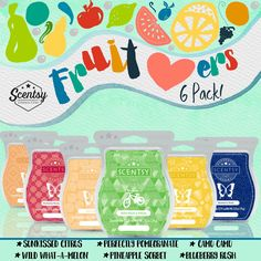 Scentsy 6 pack fruit bars!   www.amym.scentsy.us