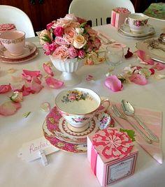 Vintage Pink Bridal Shower~~Trio in front